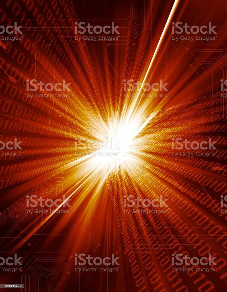 Digital Light Burst royalty-free stock photo