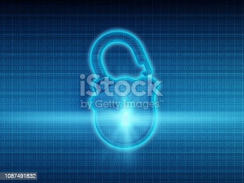 istock Digital Lock On Binary Codes 1087491832