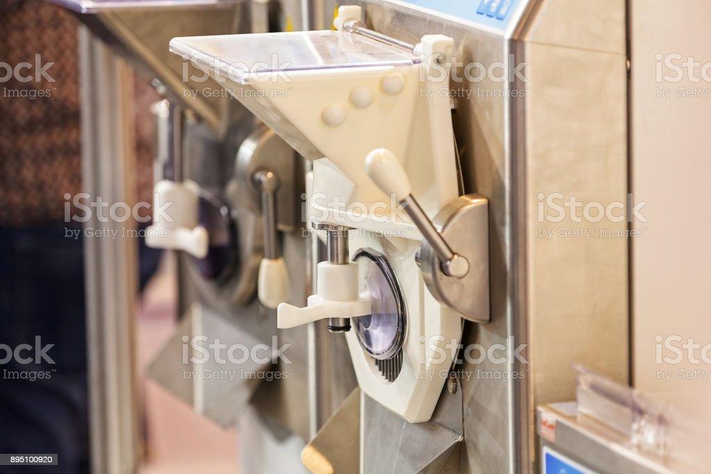 Digital machinery for  ice cream stock photo