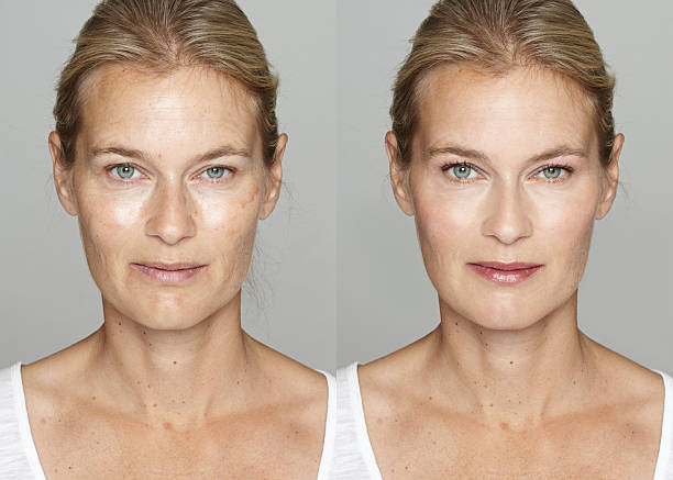 digital makeover - retouched image stock photos and pictures