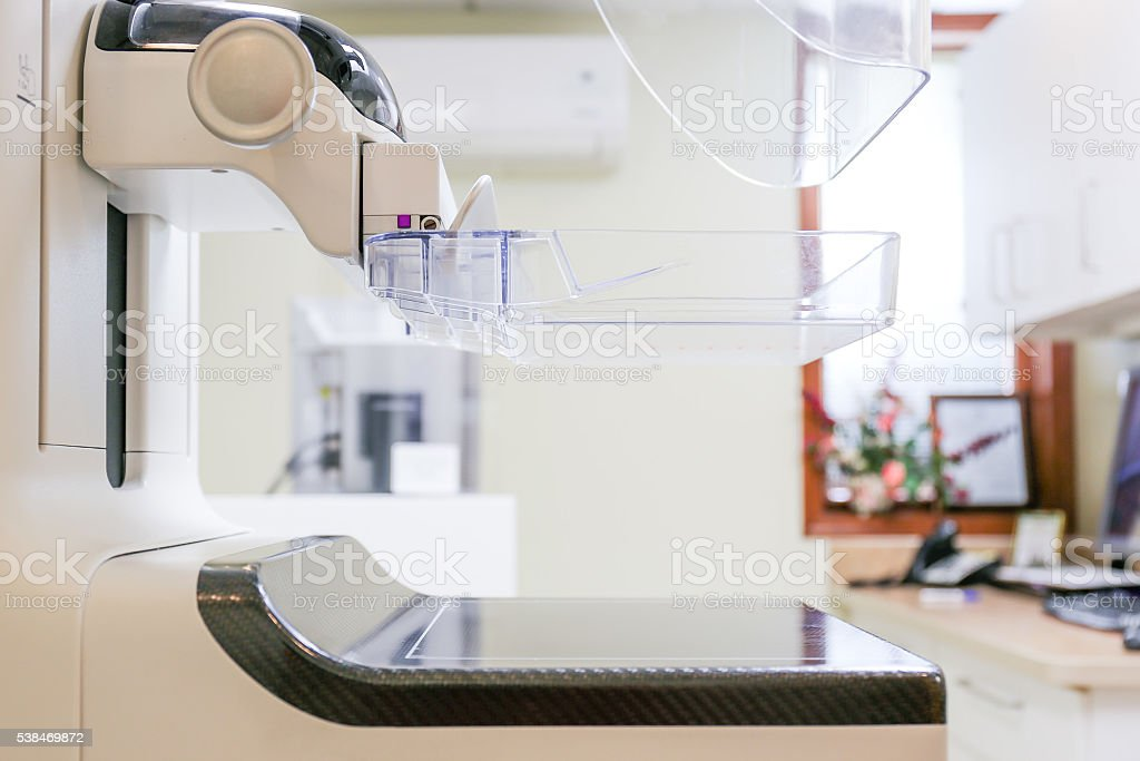 3D Digital Mammogram Screening Machine stock photo