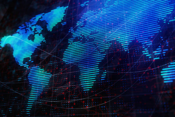 Digital Map-Hintergrund – Foto