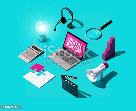 1155191162 istock photo Digital marketing and communication strategies 1150242011