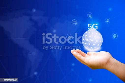 istock Digital marketing. Business using modern interface payments online shopping communication and icon customer network connection on virtual screen. Business innovation technology 5G concept. 1156035327