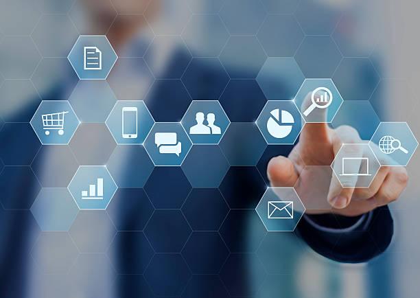 Digitale marketing-Berater Geschäftstätigkeit auf internet – Foto