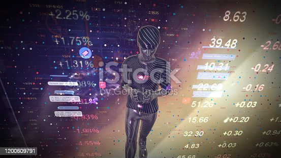 919567592 istock photo Digital marketing. Man holding smart phoneusing modern interface payments online shopping and icon customer network connection on virtual screen. Business innovation technology concept 1200609791
