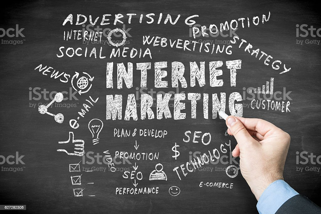 Digital marketing stock photo