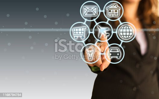 846708102 istock photo Digital marketing SEO search engine optimization via omnichannel communication network icon on computer software application development and online mobile smart device app technology 1168794754