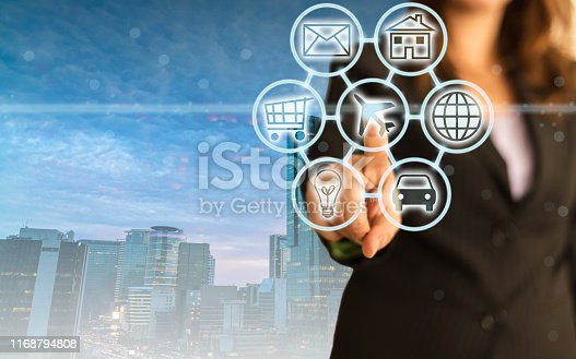 846708102 istock photo Digital marketing SEO search engine optimization via omnichannel communication network icon on computer software application development and online mobile smart device app technology 1168794808