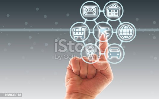 846708102 istock photo Digital marketing SEO search engine optimization via omnichannel communication network icon on computer software application development and online mobile smart device app technology 1168803215