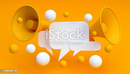istock Digital Marketing Social Media Megaphone Concept 1145423719