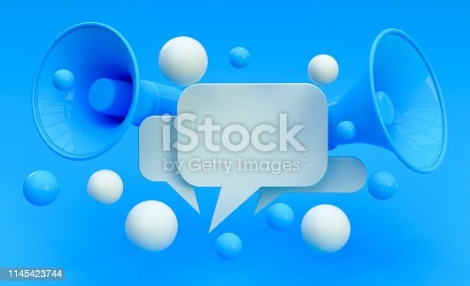 istock Digital Marketing Social Media Megaphone Concept 1145423744