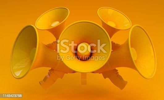 654055650 istock photo Digital Marketing Social Media Megaphone Concept 1145423758