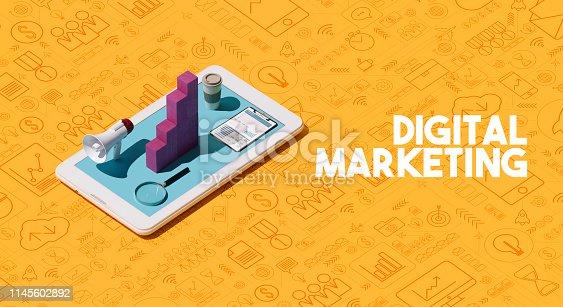 1155191162istockphoto Digital marketing solutions and strategies 1145602892