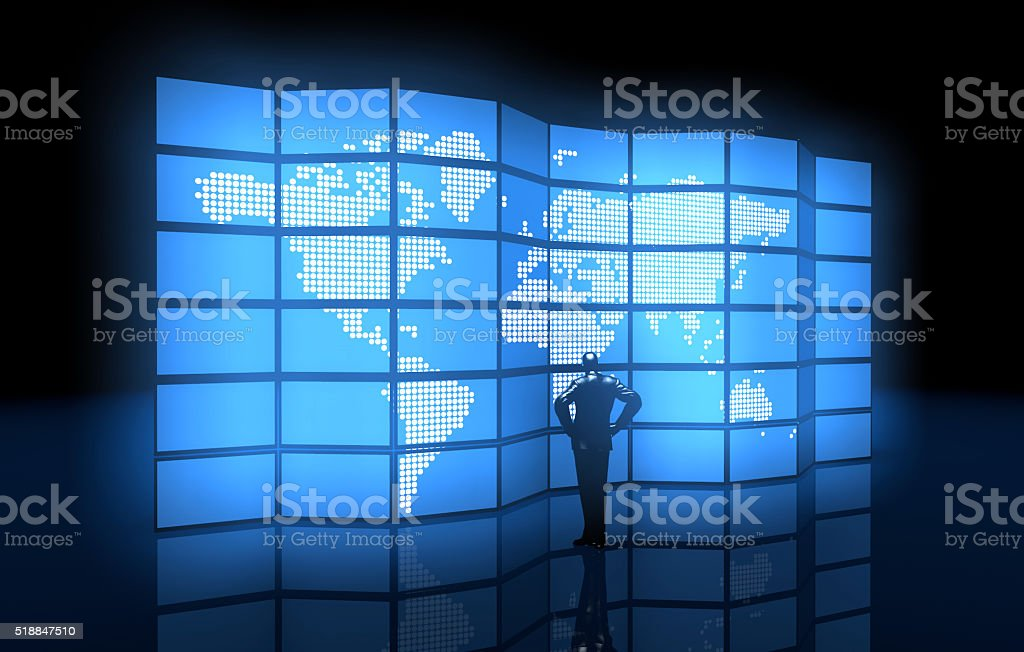 Digital Media and E-Commerce stock photo
