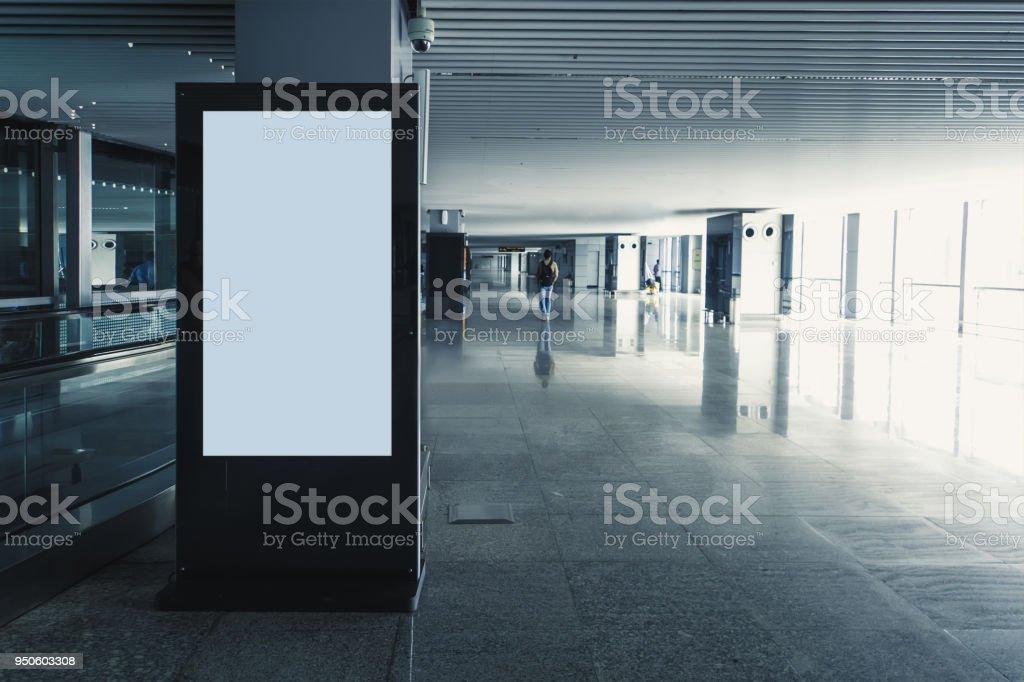 Digital media blank black and white screen modern panel, stock photo