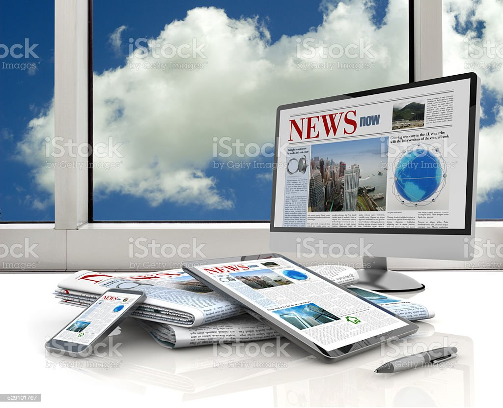 digital media devices stock photo
