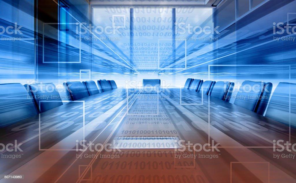 digital meeting room stock photo