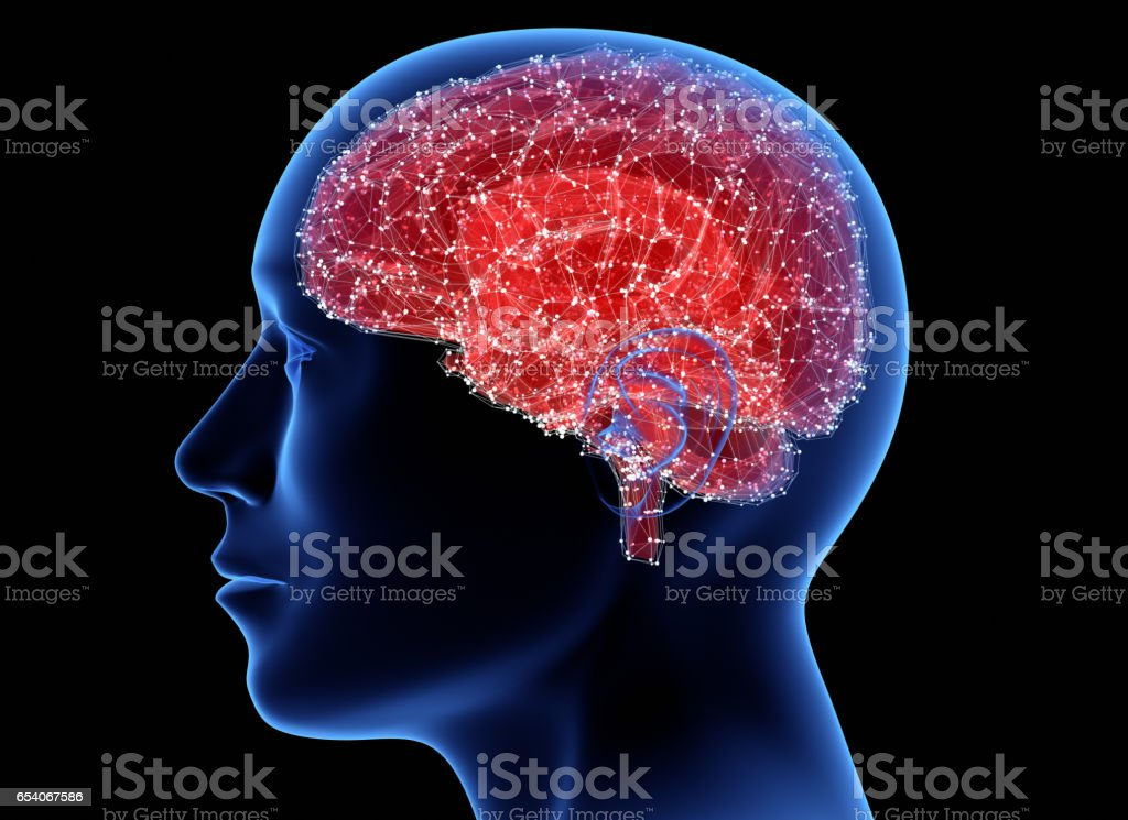 Digital mind stock photo