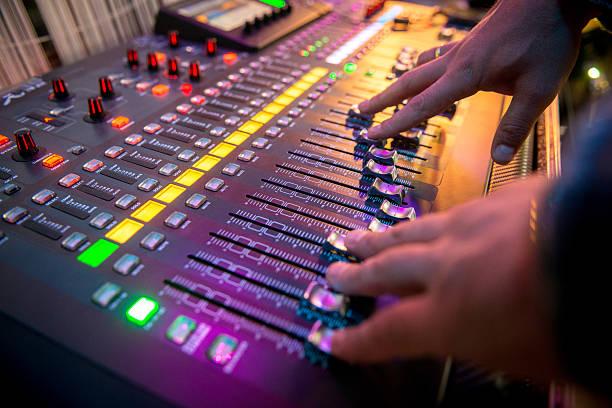 digital mixer stock photo