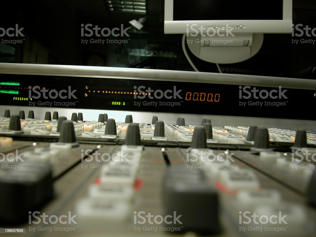 Digital Mixing Board royalty-free stock photo