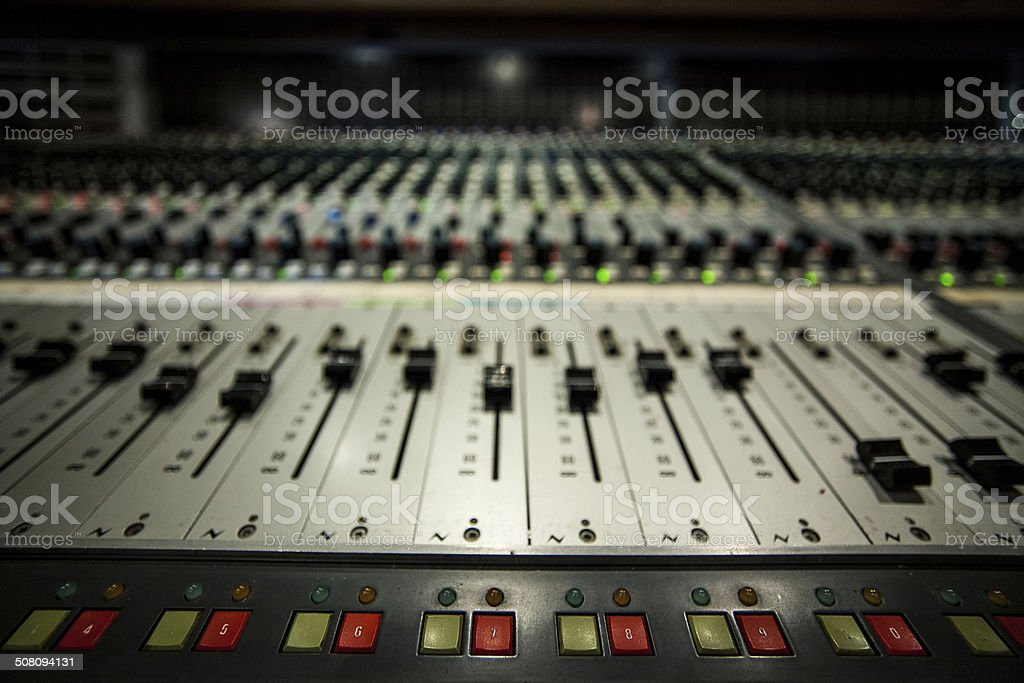 Digital Mixing Desk stock photo