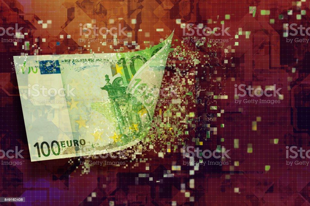 digital money bankruptcy stock photo