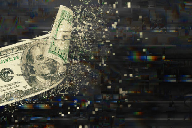 Digital Money Transection stock photo