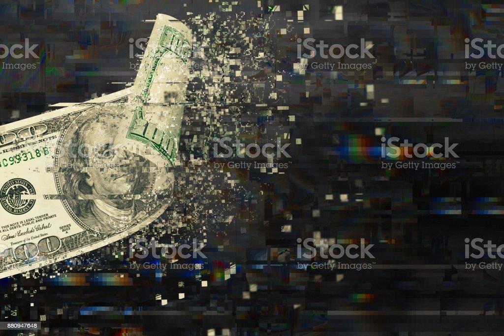 Transección del dinero digital - foto de stock