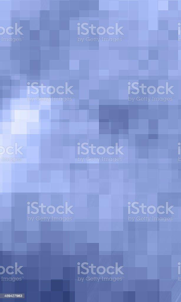 Digital Mosaic Blue Background stock photo
