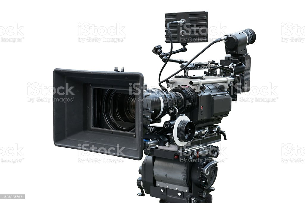 Digital movie camera stock photo