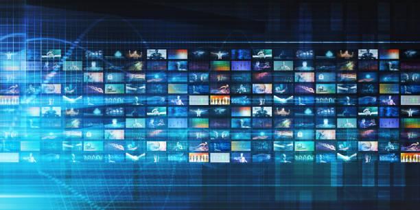 Digital Multimedia Entertainment stock photo