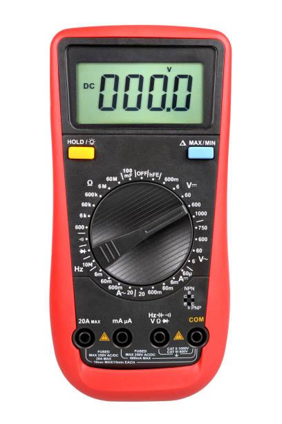 Digital multimeter isolated stock photo