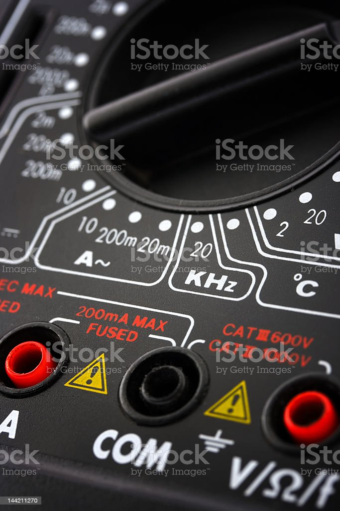 Digital multimeter royalty-free stock photo