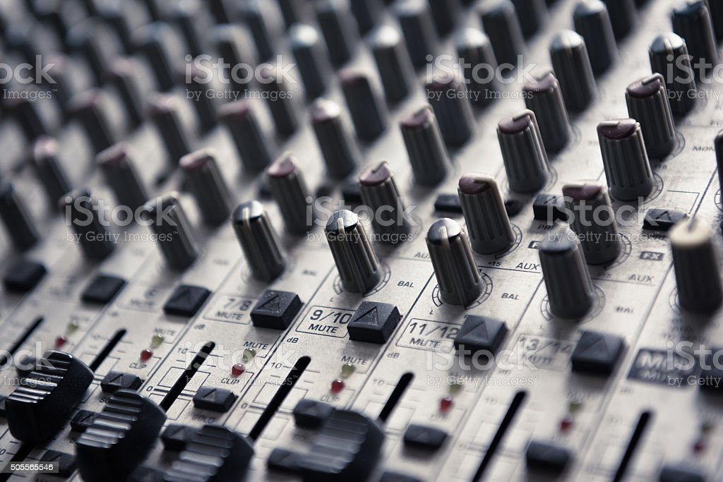 Digital Music Studio Mixer For Recording Or Radio Broadcast
