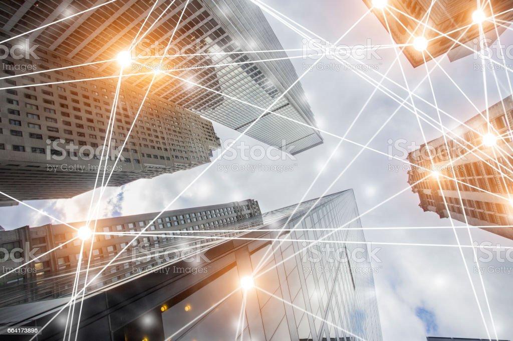 Digital Network Architecture Digital Network Architecture. Abstract technology. New York Abstract Stock Photo