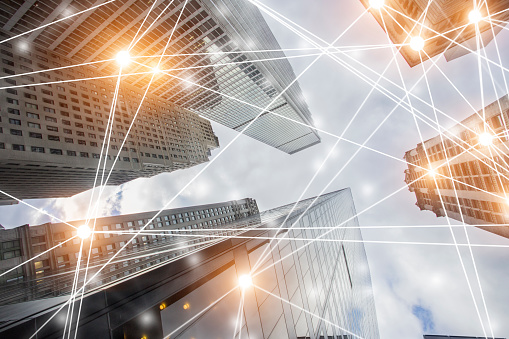 Digital Network Architecture Stock Photo - Download Image Now