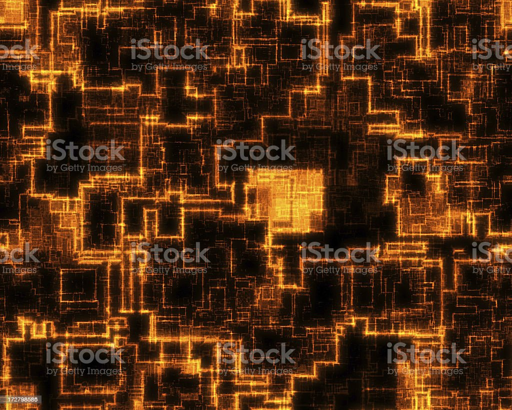 Digital Network Background Royalty free 3d rendering of glowing orange lines. Kind of science-fiction urban structure. Abstract Stock Photo