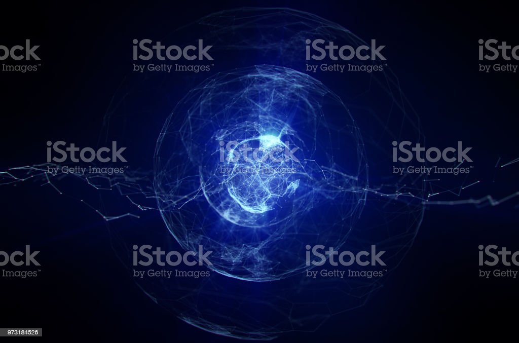 Digital network background stock photo