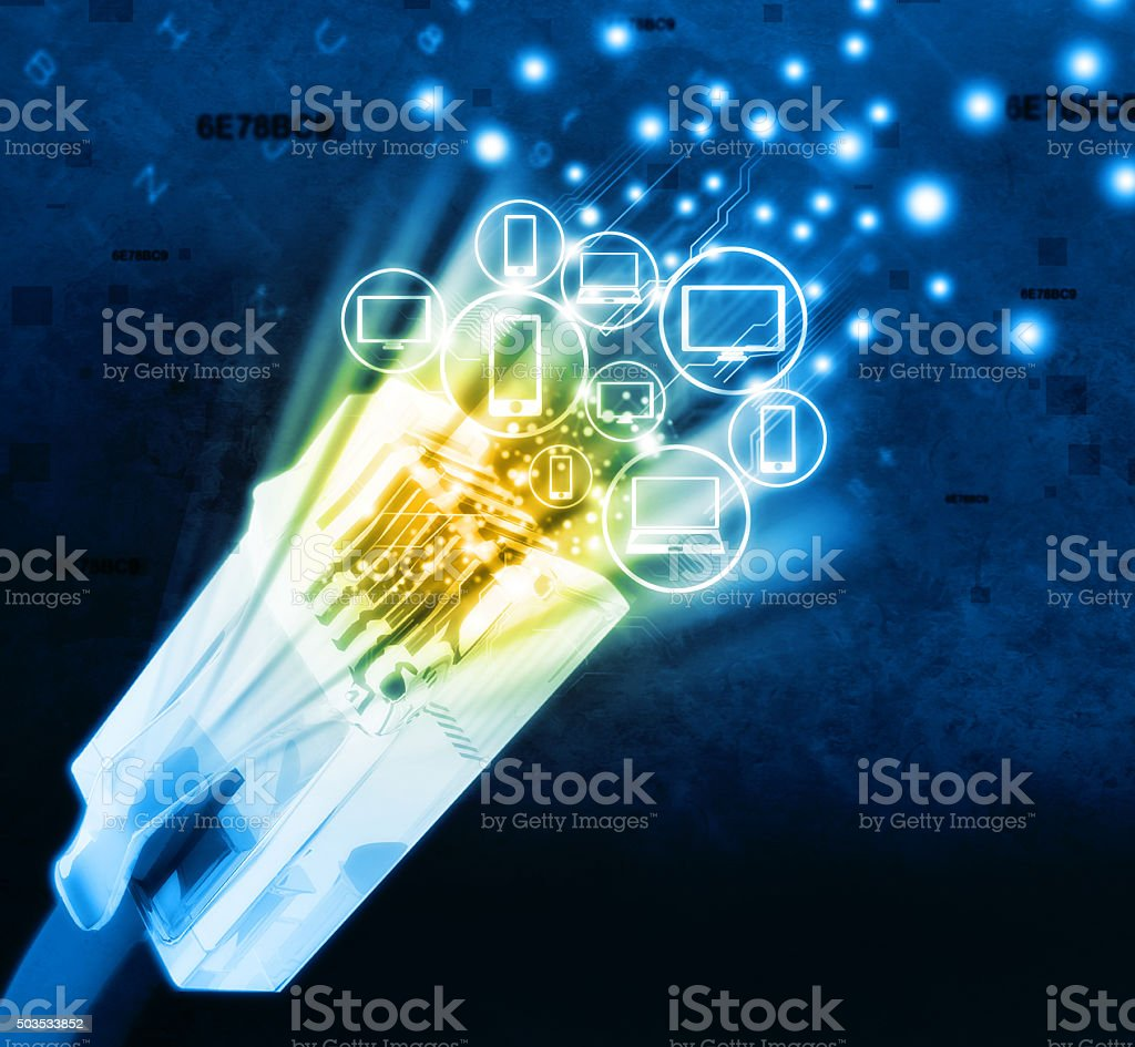 Digital network devices stock photo