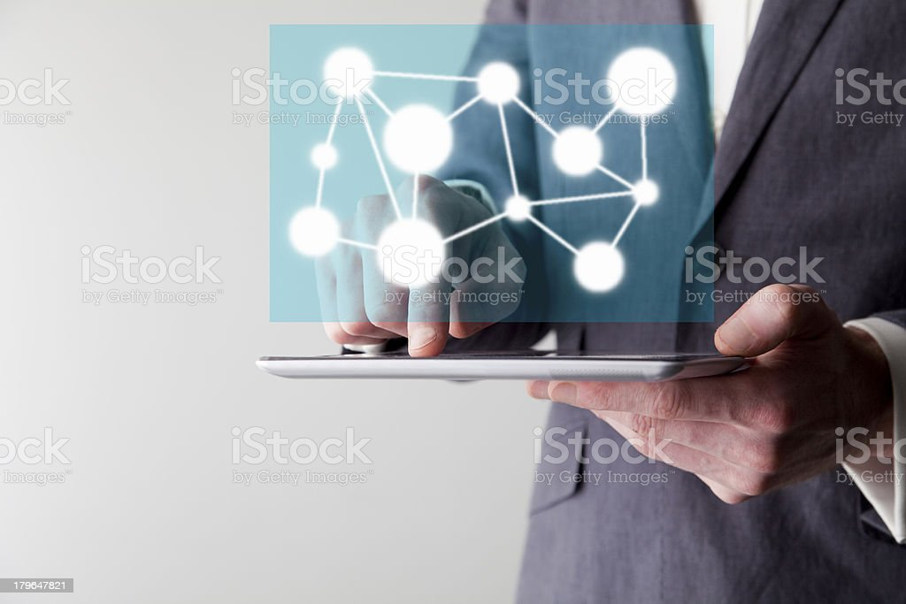 Digital network royalty-free stock photo