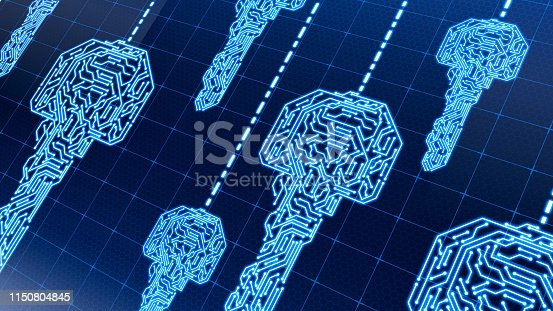 873055760 istock photo Digital network  security concept key 1150804845