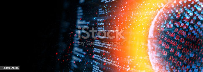 873055760 istock photo Digital network  security concept 908865634
