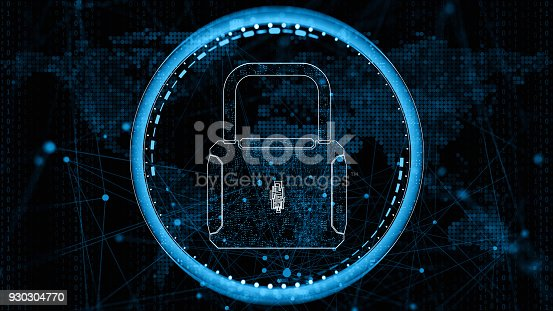 873055760 istock photo Digital network  security concept 930304770