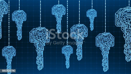 873055760 istock photo Digital network security concept 930304780
