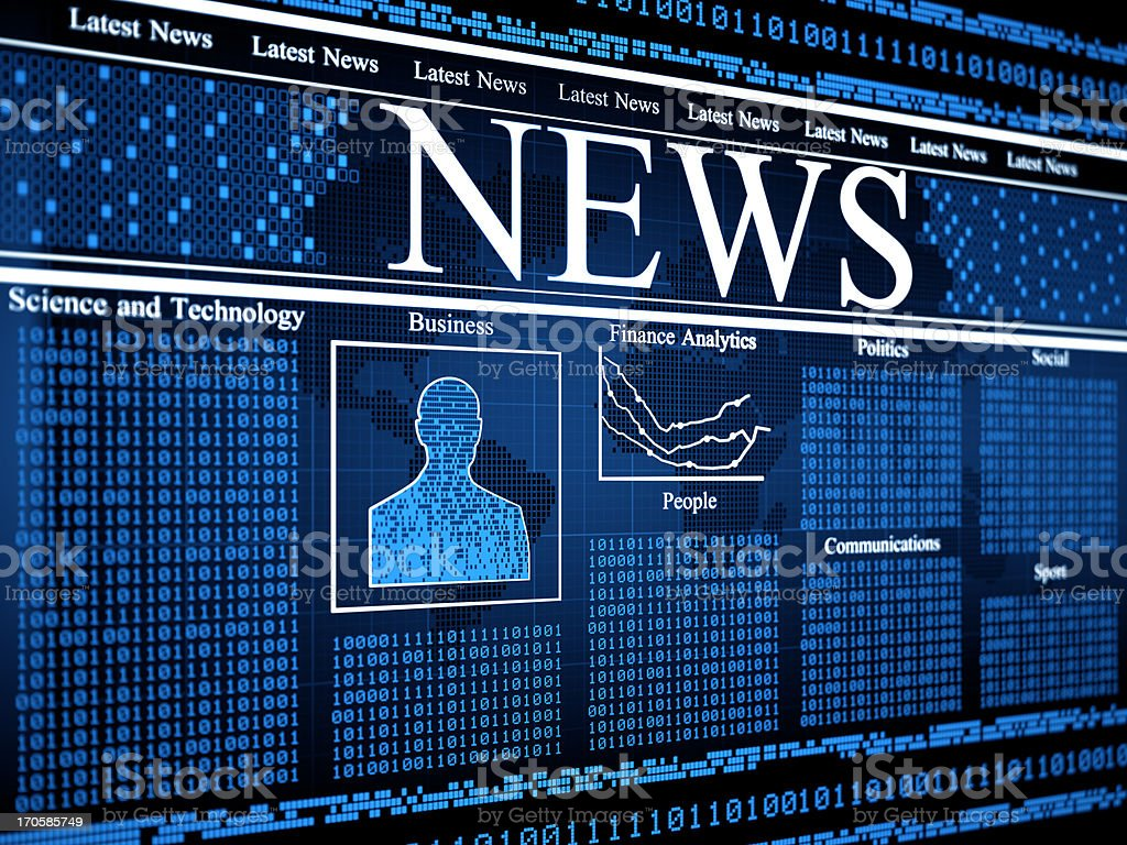 Digital News royalty-free stock photo