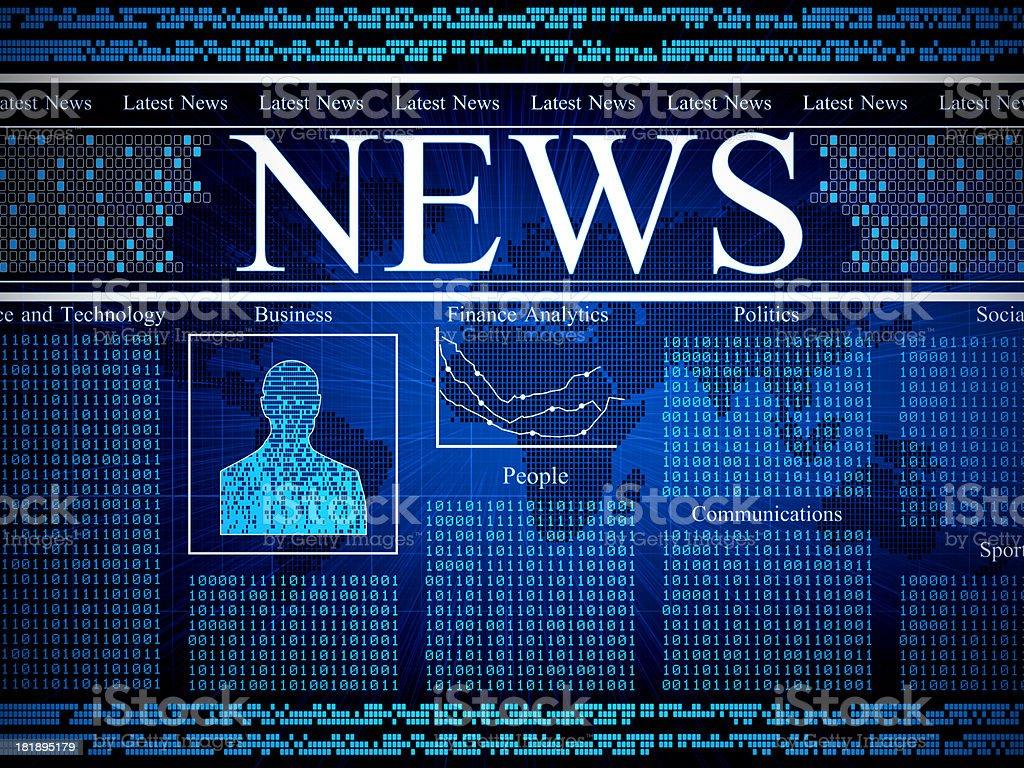Digital News royalty-free stock photo