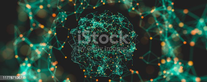 istock Digital Nodes and Connection Paths. 1177871067