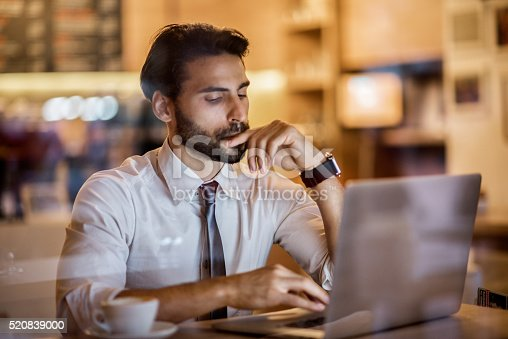 istock Digital nomad in the coffee shop 520839000