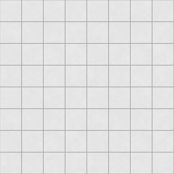 digital non-realistic seamless white tile pattern - tile stock photos and pictures